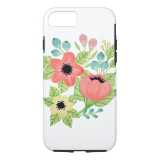 Caso floral capa iPhone 7