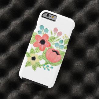 Caso floral capa tough para iPhone 6