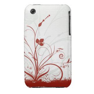Caso floral do blackberry curve do design do capinhas para iPhone 3