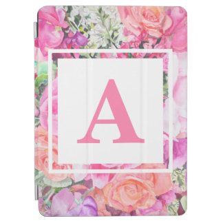 Caso floral do iPad do monograma da aguarela Capa Para iPad Air