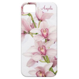 Caso floral do iPhone 5 da orquídea cor-de-rosa do Capa Para iPhone 5