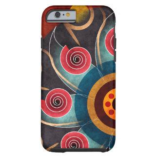 Caso floral do iPhone 6 da arte do vetor do Capa Tough Para iPhone 6