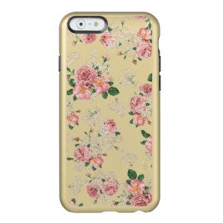 Caso floral do iphone 6 do teste padrão de Gloden Capa Incipio Feather® Shine Para iPhone 6
