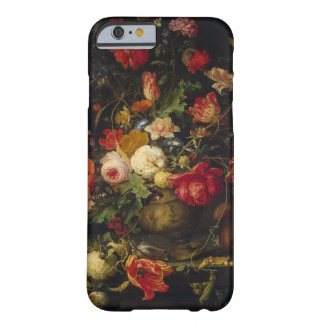 Caso floral do iPhone 6 do vaso do vintage Capa Barely There Para iPhone 6