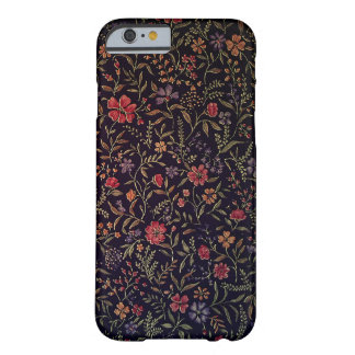 Caso floral do iPhone 6 do vintage elegante Capa Barely There Para iPhone 6
