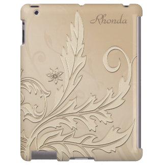Caso floral esbranquiçado bonito do iPad Capa Para iPad