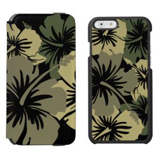 Caso floral havaiano do duo do hibiscus épico capa carteira incipio watson™ para iPhone 6