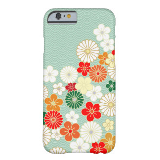 Caso floral japonês elegante do iPhone 6 do teste Capa Barely There Para iPhone 6