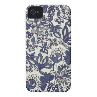 Caso floral lunático retro dos Doodles iPhone4/4S Capinha iPhone 4