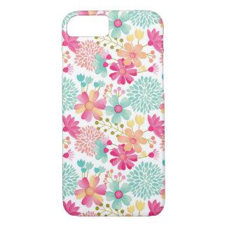 Caso floral pintado do iPhone 7 do teste padrão Capa iPhone 7
