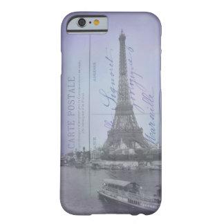 Caso francês do iPhone 6 do cartão da feira de Capa Barely There Para iPhone 6