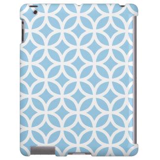 Caso geométrico do iPad 2/3/4 dos azul-céu Capa Para iPad
