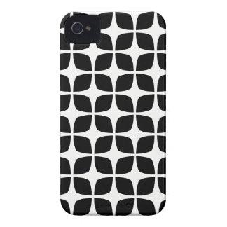 Caso geométrico do iPhone 4S em preto e branco Capinha iPhone 4
