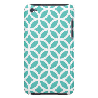 Caso geométrico do ipod touch G4 de turquesa do Capa Para iPod Touch