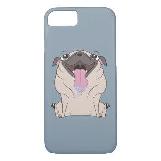 Caso gordo do iPhone 7 do cão do Pug dos desenhos Capa iPhone 7