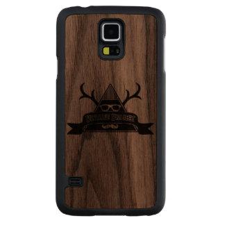 Caso GS5 de madeira do projeto selvagem do vintage Capa De Nogueira Para Galaxy S5