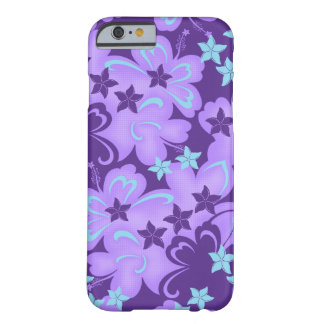 Caso havaiano do iPhone 6 do hibiscus de Capa Barely There Para iPhone 6