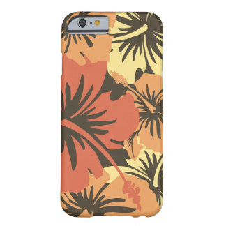 Caso havaiano floral do iPhone 6 do hibiscus épico Capa Barely There Para iPhone 6