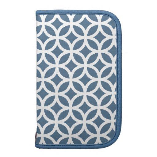 Caso in-folio de Smartphone - azul-céu geométrico Organizador