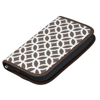 Caso in-folio de Smartphone - Brown geométrico Agendas