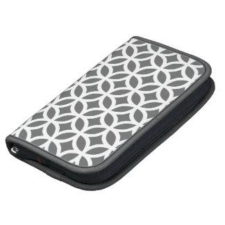 Caso in-folio de Smartphone - cinza geométrica Agendas