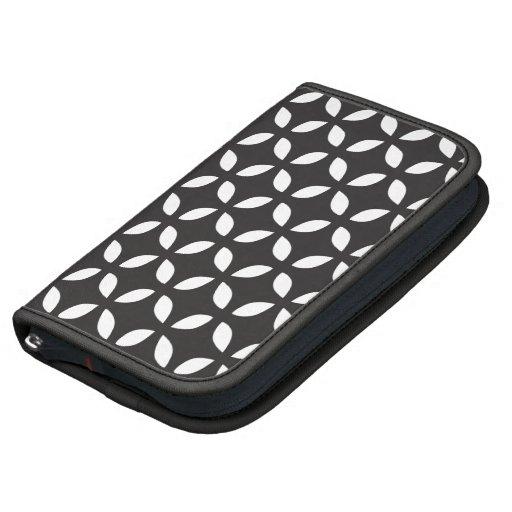 Caso in-folio de Smartphone - geométrico preto e b Agendas