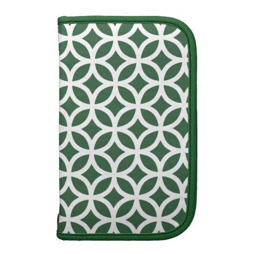 Caso in-folio de Smartphone - geométrico verde Organizadores