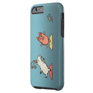 caso iphone6 engraçado animal capa tough para iPhone 6