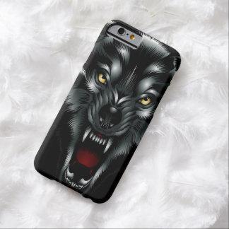 Caso irritado do iPhone 6 da cara do lobo Capa Barely There Para iPhone 6