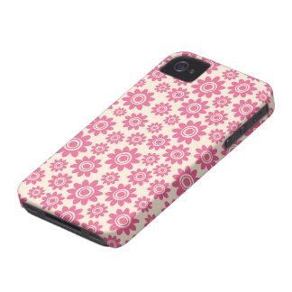 Caso lunático cor-de-rosa e de creme bonito do capa para iPhone