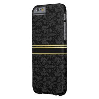CASO Luxe do estilo IPHONE 6 do DAMASCO do OURO Capa Barely There Para iPhone 6
