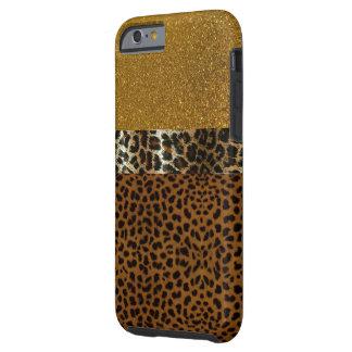 Caso luxuoso de IPhone 6 do leopardo Capa Tough Para iPhone 6