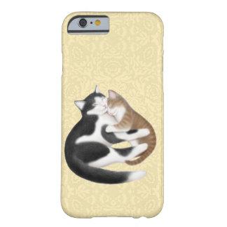 Caso maternal do iPhone 6 dos gatos do amor Capa Barely There Para iPhone 6