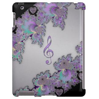 Caso metálico do iPad do Clef da música do Fractal Capa Para iPad