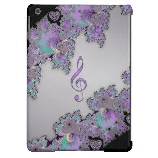 Caso metálico do iPad do Clef da música do Fractal Capa Para iPad Air