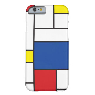 Caso minimalista do iPhone 6 da arte de Mondrian Capa Barely There Para iPhone 6