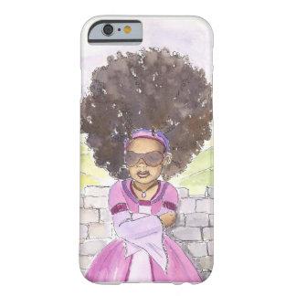 Caso moderno do iPhone 6 do Afro de Rapunzel Capa Barely There Para iPhone 6