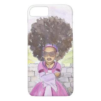 Caso moderno do iPhone 7 do Afro de Rapunzel Capa iPhone 7