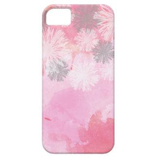 Caso NA MODA do rosa iPhone5/5s/SE do teste padrão Capa Barely There Para iPhone 5