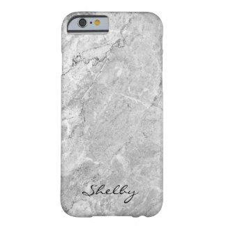 Caso nomeado personalizado do iPhone 6/6s de Cinza Capa Barely There Para iPhone 6