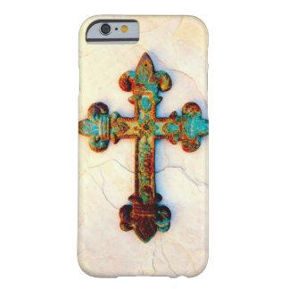 Caso oxidado do iPhone 6 da cruz do ferro Capa Barely There Para iPhone 6