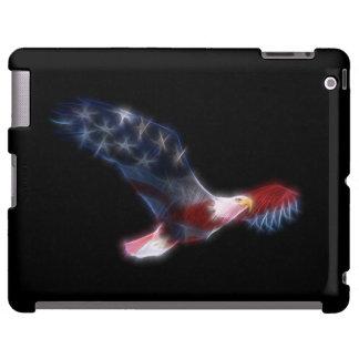 Caso patriótico do iPad da bandeira da águia Capa Para iPad