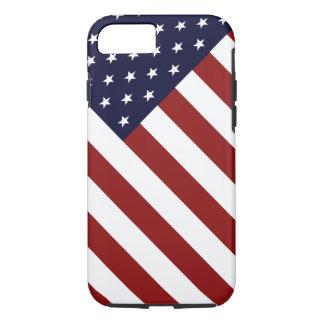 Caso patriótico do iPhone 7 da bandeira dos EUA Capa iPhone 7