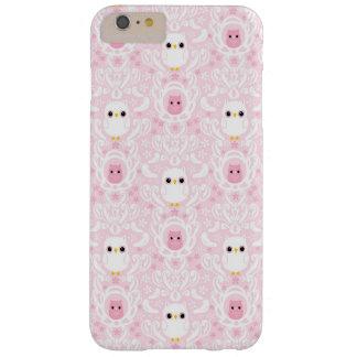 Caso positivo do iPhone 6 do damasco da coruja mal Capa Barely There Para iPhone 6 Plus