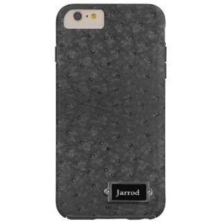 Caso positivo do iPhone 6 pretos do olhar do couro Capas iPhone 6 Plus Tough