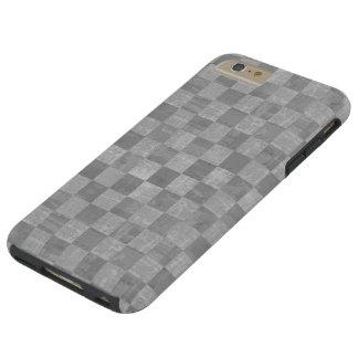 Caso positivo do iPhone 6 resistentes Checkered do Capas iPhone 6 Plus Tough