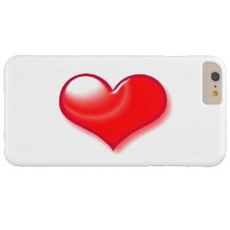 Caso positivo do iPhone 6 vermelhos do coração Capas iPhone 6 Plus Barely There