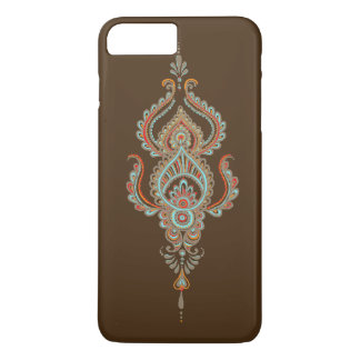 Caso positivo do iPhone 7 de Brown paisley mal lá Capa iPhone 7 Plus