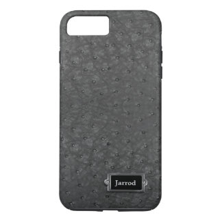 Caso positivo do iPhone 7 pretos do olhar do couro Capa iPhone 7 Plus