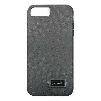 Caso positivo do iPhone 7 pretos do olhar do couro Capa iPhone 8 Plus/7 Plus